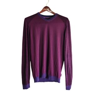 Ted Baker Merino Wool Maroon Sweater